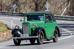 1937 Austin 7 Open tweepersoonsauto Stock Foto