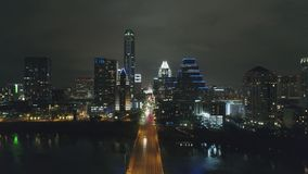 Austin på natten Royaltyfri Bild