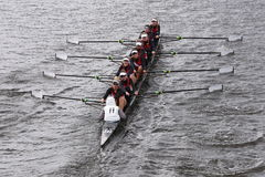 Austin races in the Head of Charles Regatta Women's Youth Eights Royalty Free Stock Photos