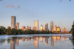 Austin, reflexão da skyline de Texas Imagens de Stock