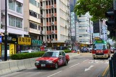 Austin Road i Kowloon, Hong Kong Fotografering för Bildbyråer