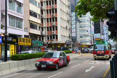 Austin Road in Kowloon, Hong Kong Stock Afbeelding
