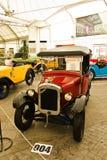 Austin sete, carros do vintage no indicador em Fut Imagem de Stock
