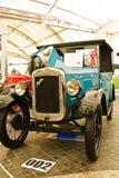 Austin sete, carros do vintage no indicador em Fut Fotos de Stock Royalty Free