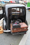 Austin Seven car,suitcase & gramophone Royalty Free Stock Images