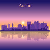 Austin silhouette on sunset background Royalty Free Stock Photography