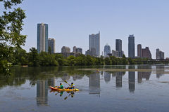 Austin Skyline. Skyline and Lake Austin, Texas Stock Photography