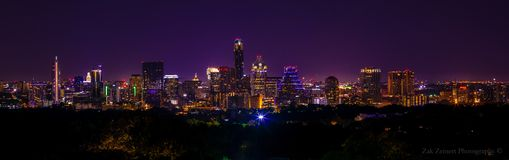 Austin Skyline Foto de Stock Royalty Free