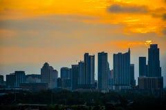 Austin Skyline Cityscape Sunrise-Abschluss oben Stockfotografie