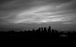 Austin Skyline Cityscape Sunrise Black e bianco Fotografia Stock Libera da Diritti
