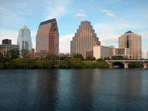 Austin Skyline mid day. Austin skyline seen across the Colorado river at mid day Stock Image