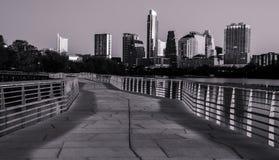 Austin Skyline monocromatico Immagini Stock Libere da Diritti