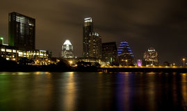 Austin Skyline (night) Stock Images