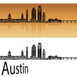 Austin skyline in orange Stock Photo