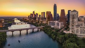 Austin Skyline por la tarde fotografía de archivo libre de regalías