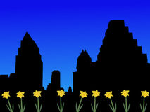 Austin Skyline in spring Stock Image