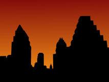 Austin Skyline at sunset Stock Photos