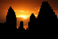 Austin Skyline at sunset Royalty Free Stock Photo