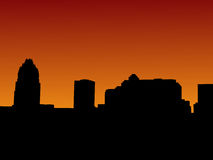 Austin Skyline at sunset Royalty Free Stock Images