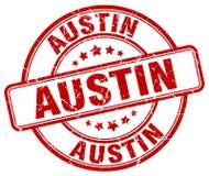 Austin stamp. Austin round grunge stamp isolated on white background. Austin