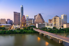 austin, Teksas linia horyzontu Fotografia Royalty Free