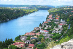 Austin Texas. View as seen from Mount Bonnell in Austin Texas USA Stock Image