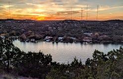 Austin Texas al tramonto fotografia stock