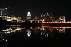 Austin Texas bij Nacht Royalty-vrije Stock Afbeeldingen