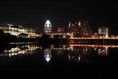 Austin Texas bij Nacht Royalty-vrije Stock Foto's