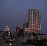 Austin Texas bij Nacht Stock Foto's
