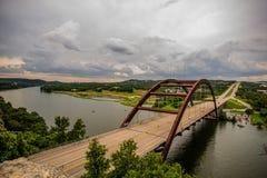 Austin, Texas 360 Bridge. This is the view of the 360 bridge over lake Austin royalty free stock image