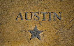 Austin Texas Capital City Star och central Texas Icon royaltyfri bild