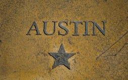 Austin Texas Capital City Star y Texas Icon central imagen de archivo libre de regalías