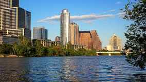 Austin, Texas Cityscape and Colorado River Royalty Free Stock Images