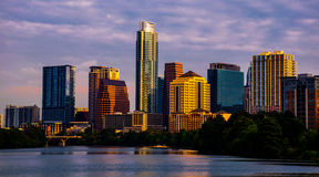 Austin Texas Cityscape at Sunrise Golden Hour skyline. 