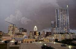 Austin Texas on a cloudy night Royalty Free Stock Photo