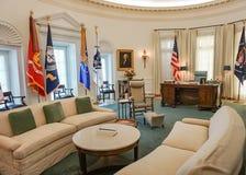 AUSTIN TEXAS - 17 de setembro de 2017 - o escritório oval na biblioteca e no museu de Lyndon B Johnson LBJ Imagem de Stock
