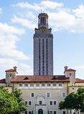 AUSTIN, TEXAS, DE V.S. - 17 SEPTEMBER, 2017: De Toren bij de Universiteit van Texas Stock Foto
