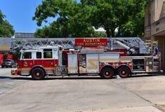 austin Texas in den Vereinigten Staaten von Amerika - August 2015 Feuer truc lizenzfreies stockbild