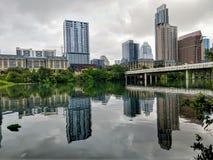 Austin Texas do centro em um dia nebuloso imagem de stock