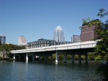 Austin, Texas : Downtown. A nice clear shot of downtown Austin, Texas from across Town Lake bridge Royalty Free Stock Photo
