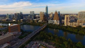 Austin Texas Downtown City Skyline Urban-Architektur panoramisch stock video