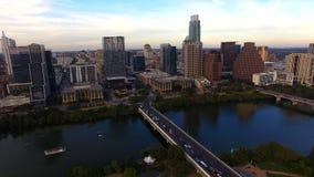 Austin Texas Downtown City Skyline Urban-Panoramische Architectuur stock footage