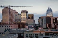 Austin Texas durante il tramonto fotografia stock
