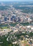 Austin Texas från luften Royaltyfri Bild