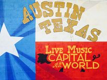 Austin Texas Live Music Capital der Welt lizenzfreie stockbilder