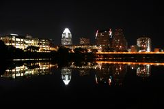 Austin Texas na noite Fotos de Stock Royalty Free