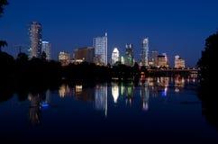 Austin Texas na noite foto de stock
