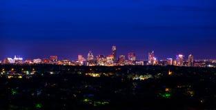 Austin Texas Night Cityscape Mount Bonnell del centro Immagine Stock Libera da Diritti