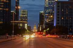 Austin Texas at night Royalty Free Stock Images